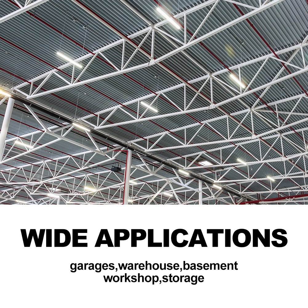 Linkable 40W 4FT LED Utility Shop Lights for Garage BBOUNDER 4000 Lumen 5000K Daylight Super Bright Utility Light Fixture Hanging Mounting Light for Warehouse Basement Garage Workbench (6 pack) by BBOUNDER (Image #8)