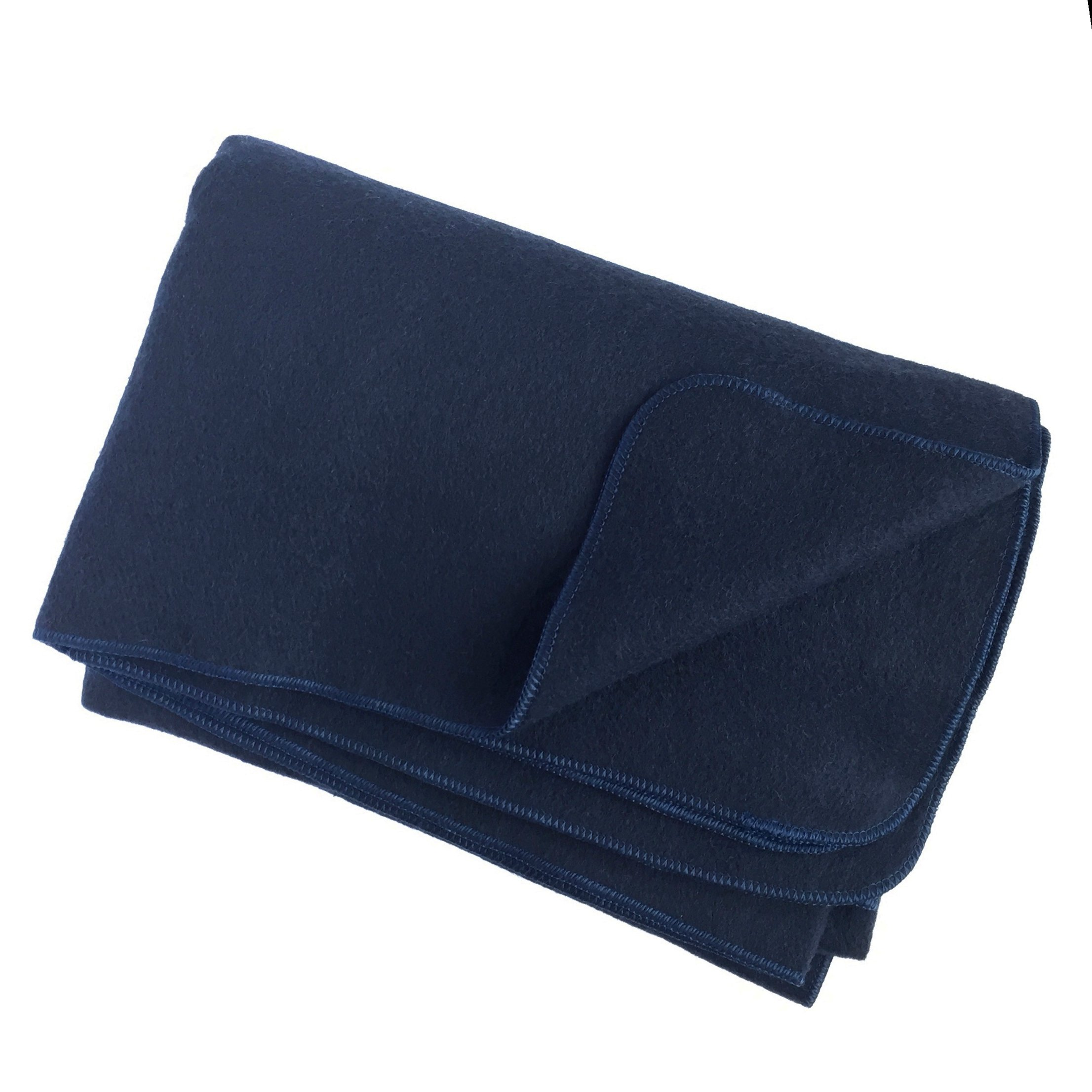EKTOS 100% Wool Blanket, Navy Blue, Warm & Heavy 5.5 lbs, Large Washable 66''x90'' Size, Perfect for Outdoor Camping, Survival & Emergency Preparedness Use by EKTOS (Image #8)