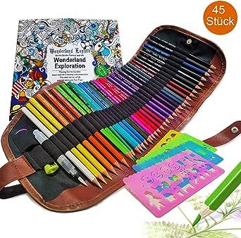 Juego de lápices de colores con bolsa enrollable, 4