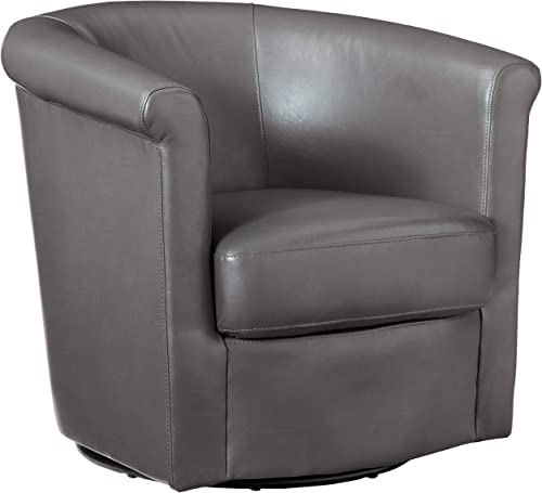Grafton Madison Faux Leather Swivel Barrel Chair