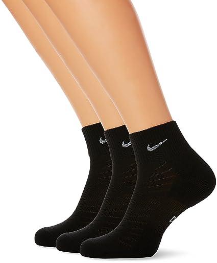 Nike DRI-FIT Quarter (3 Pares) Calcetines, Hombre, Negro/Gris