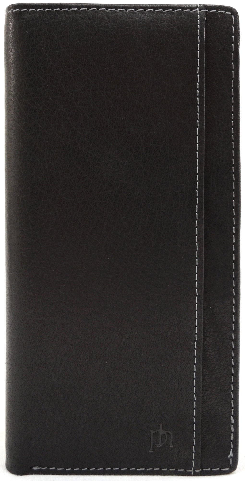 Mens Super Soft 100% Leather Bi-Fold Slim Jacket Wallet RFID Safe by REDHIDE