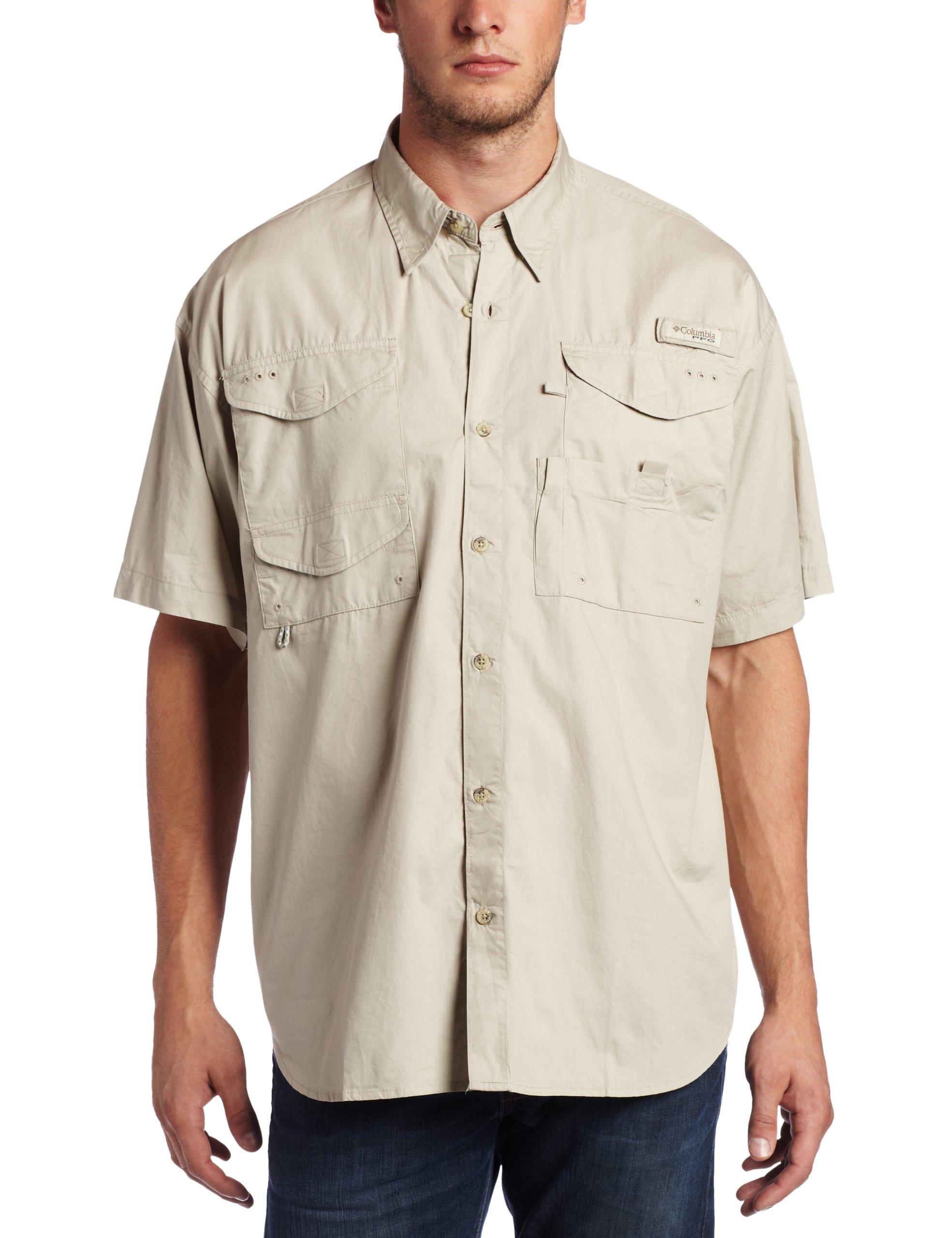 Columbia Men's Pfg Bonehead Long Sleeve Shirt,  Fossil,  X-Small