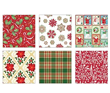 Christmas Gift Wrapper Design.Christmas Gift Wrap 6 Design Traditional Wrapping Paper 36 Feet X 30 Inch Rolls
