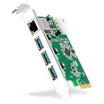 CSL - PCIe 3 puertos USB 3.0 + 1 puerto LAN / de red ...