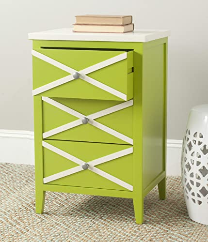 Safavieh American Homes Collection Sherrilyn Lime Green 3-Drawer Side Table