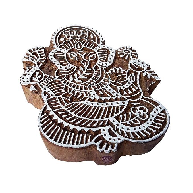 Royal Kraft Tatuaje Madera Bloque Amplio Ganesha Forma Grande ...