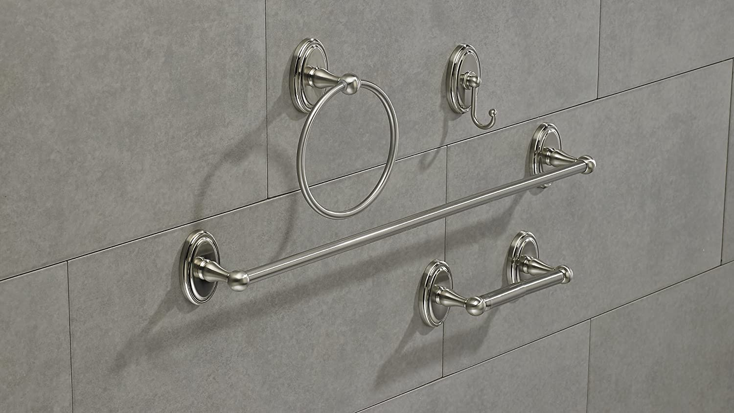 Wyndham Collection Richelieu Hardware Brushed Nickel  Finish 43449 Value Pack Pack of 4 units