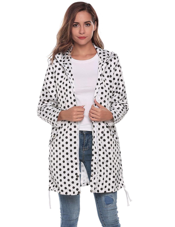 ELESOL Raincoat Outdoor Womens Lightweight Waterproof Active Outdoor Rain Jacket