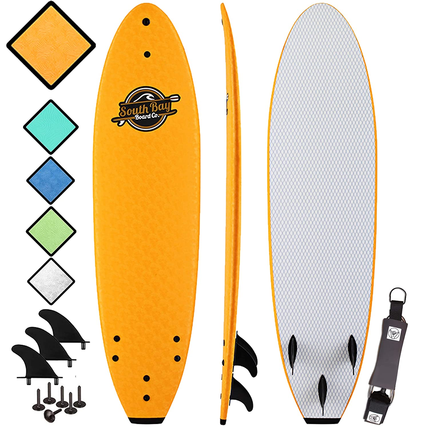 Soft Top Surfboard – Best Foam Surf Board for Beginners, Kids, and Adults – Soft Top Surfboards for Fun Easy Surfing – 7 Ruccus, 8 Verve 8 8 Heritage Surfboards All Wax-Free