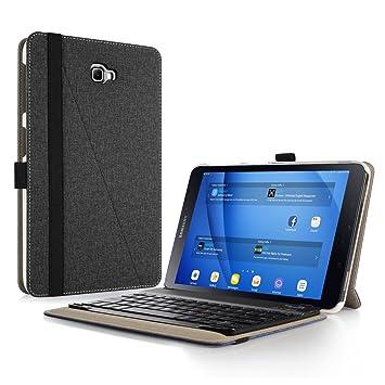 Infiland Teclado Funda Compatible for Samsung Galaxy Tab A 10.1,Ultra Fino Case con Magnético Desmontable Teclado para Galaxy Tab A 10.1 2016 ...
