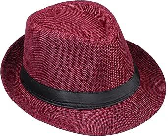 مونست الكلاسيكية فيدوراس قبعات قصيرة حافة قبعة الجاز بنما قبعة قش قبعة للرجال النساء أزياء إكسسوارات