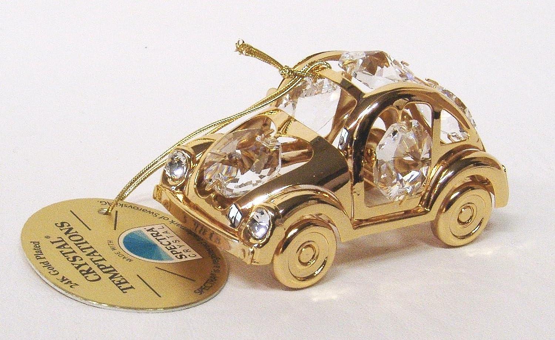 Swarovski® Components CRYSTAL TEMPTATIONS - Maggiolino VW, con cristalli Swarovski, placcato oro 24 carati, trattamento anti-ossidazione, dimensioni: 6,2 cm x 3,5 cm Gustav Lindner
