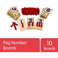 Excellerations 2.5 X 5 inches, Peg Number Boards Wooden, Counting Teaching Toy, Educational Toy, Preschool, Kids Toys…