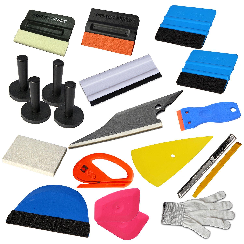Ehdis® 15 Kinds of Car Vinyl Wrap Tool Window Tint Kit for Auto Film Tinting Scraper Application Installation