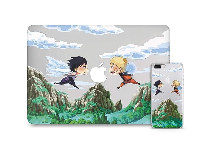 Amazon.com: WolfCases Naruto VS Sasuke Case Set For Macbook ...