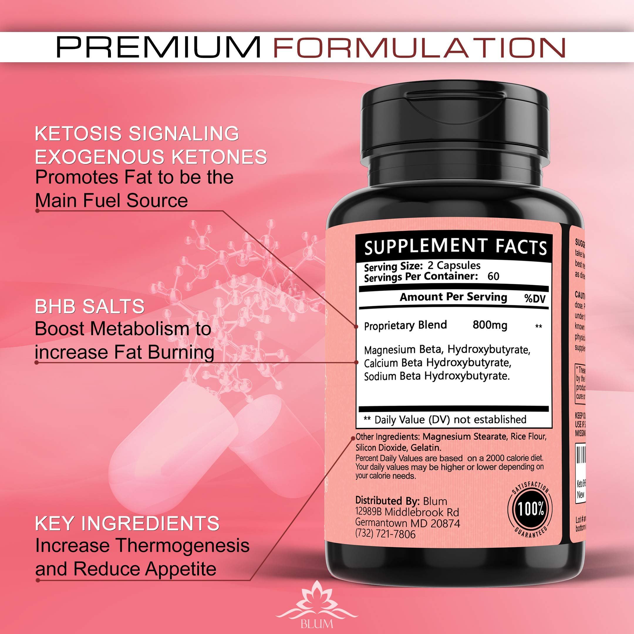 Keto Pills Weight Loss Supplements Keto Diet Pills for Ketosis | Advanced BHB Exogenous Ketones 800mg Capsules for Rapid Fat Burn, Suppress Appetite, Increase Metabolism, Energy and Mental Focus 120ct by Ovillow (Image #7)