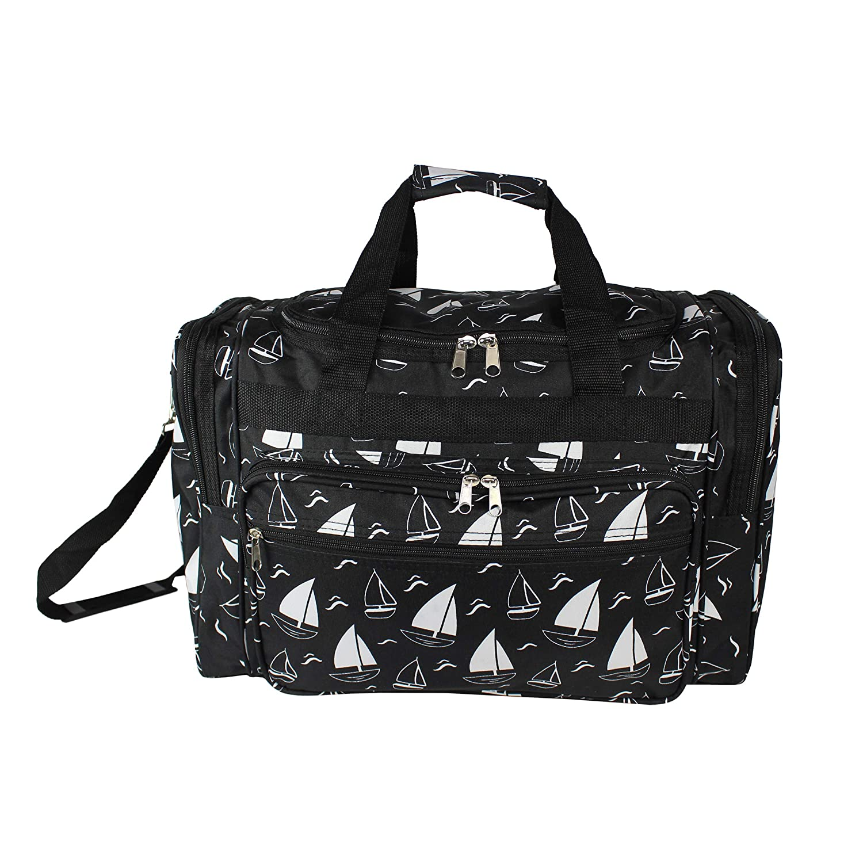 World Traveler Womens Floral Duffel Bag