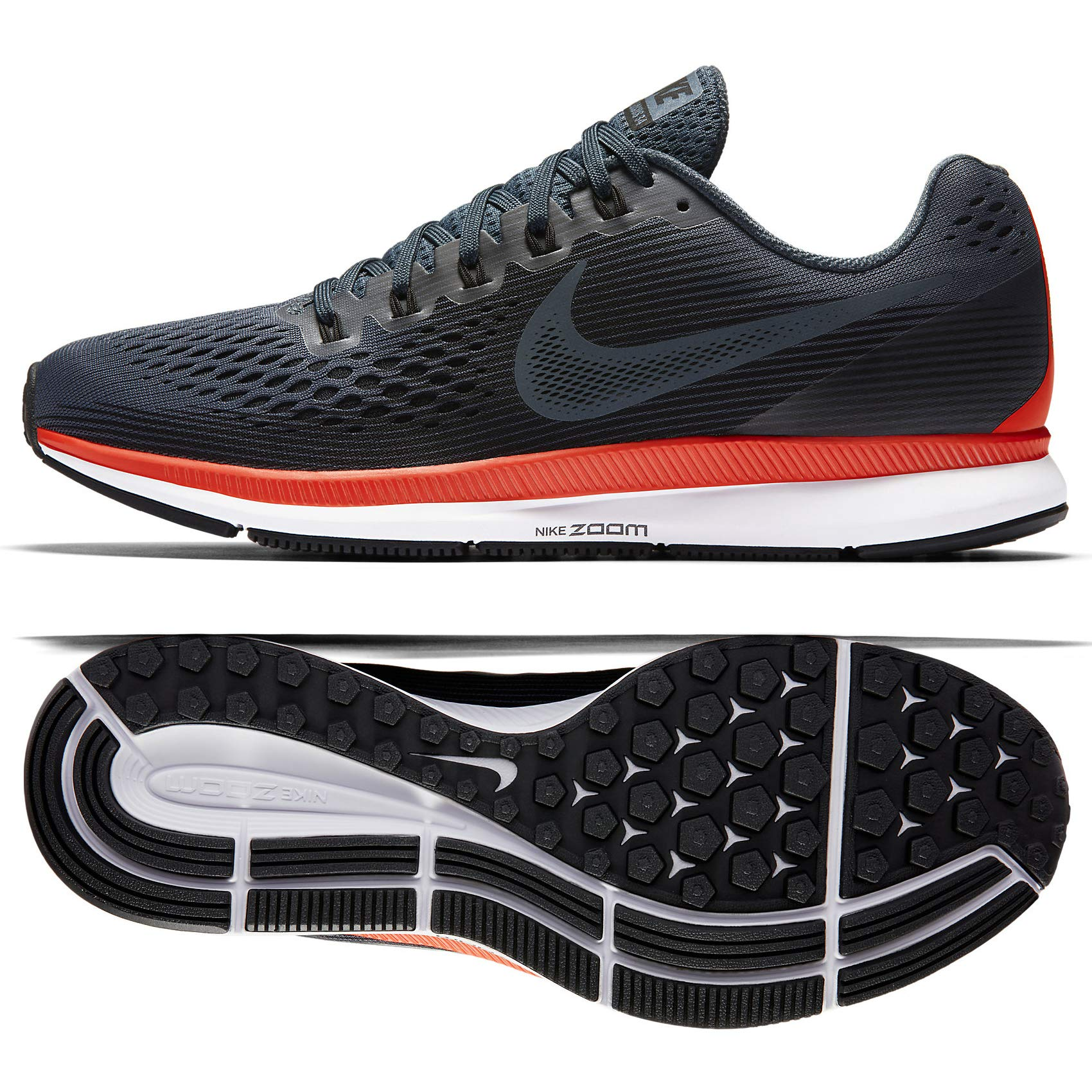 Nike Womens Air Zoom Pegasus Fabric Low Top Lace Up Running, Blue, Size 8.0