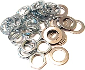 12 sets US Thread 3/8 inch x 32 Potentiometer Nuts Trim Lock Washers