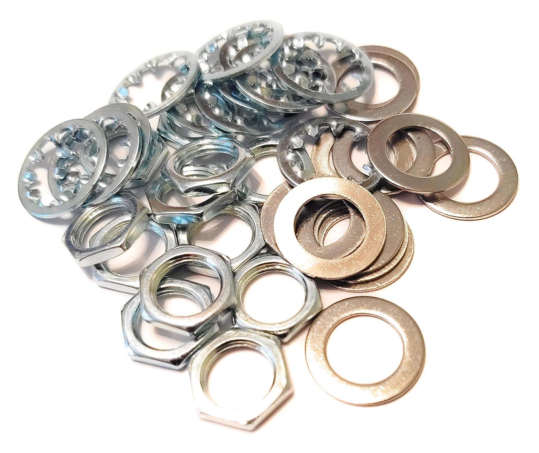 12 sets US Thread 3/8 inch x 32 Potentiometer Nuts Trim Lock Washers 81qVAfvDWyL