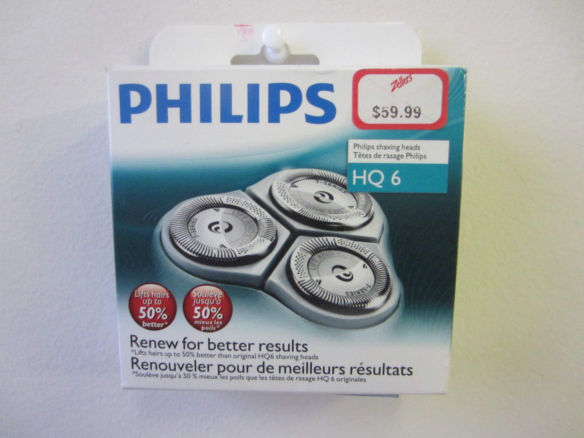 Philips Norelco HQ6/3 Quadra Action Replacement Shaving Heads