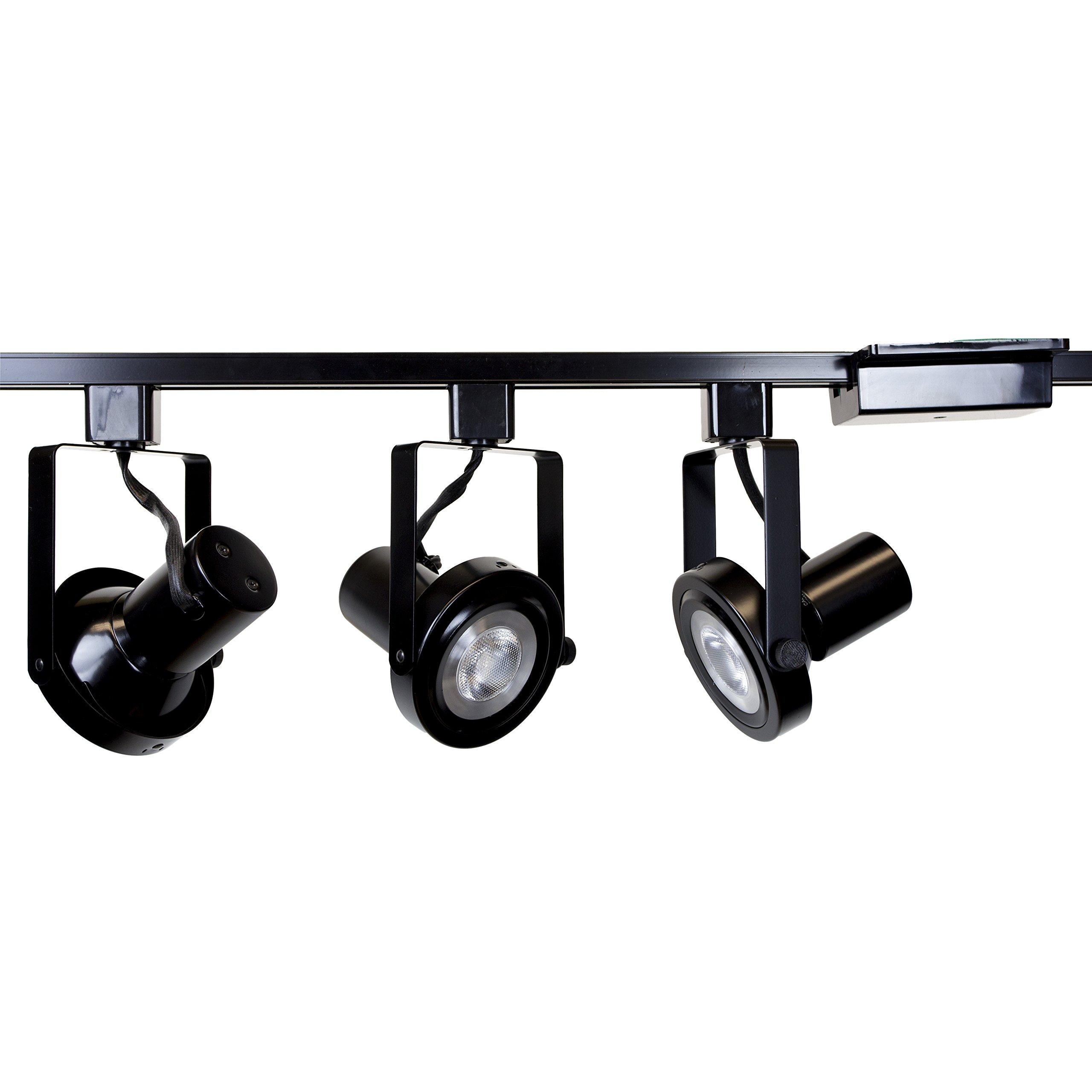 Direct-Lighting 3 lights PAR30 Short Neck Gimbal Ring Track Lighting Kit HT-50005-3-BK-WBULB (Bulbs Included)