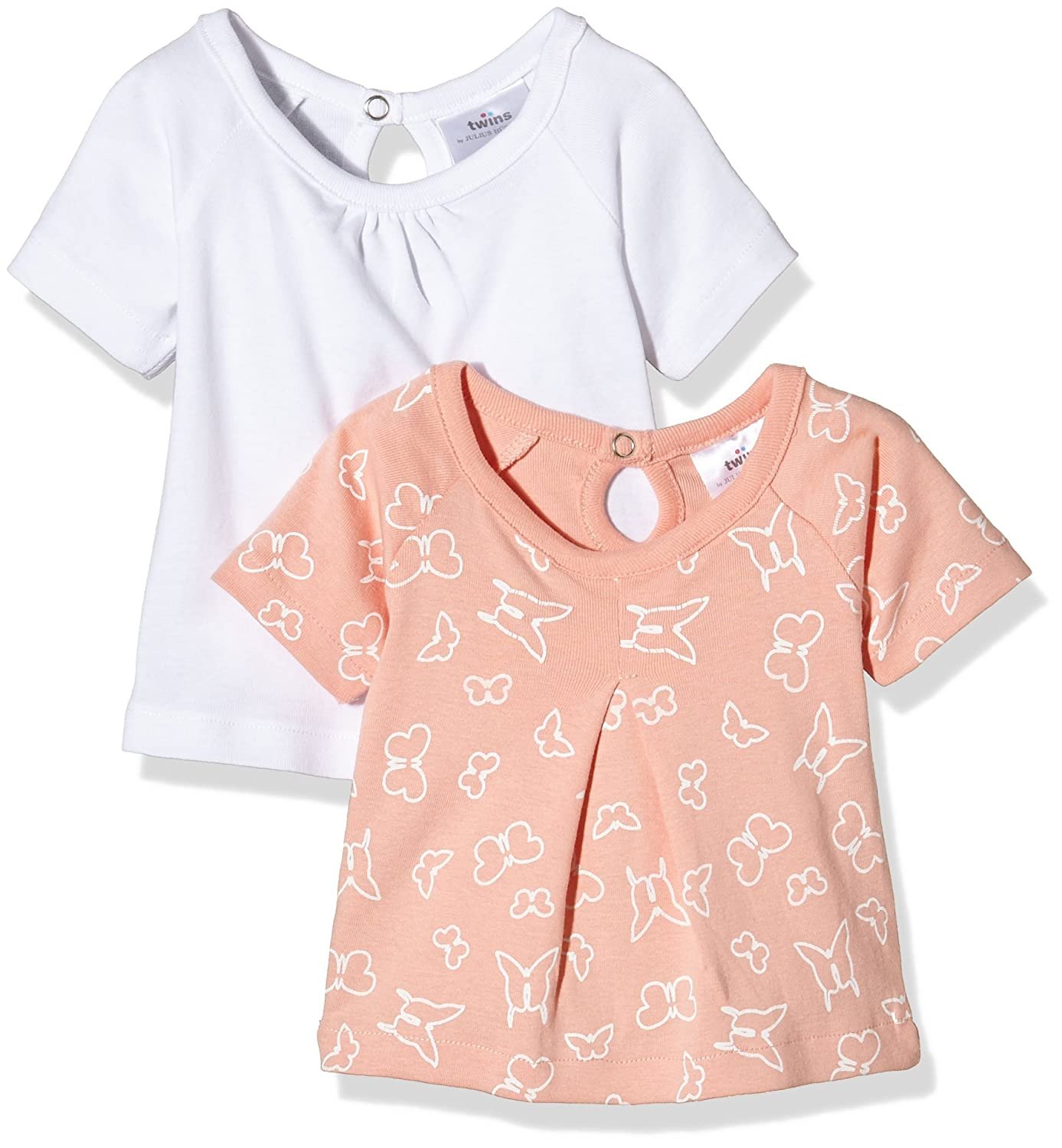 Twins Baby Girls Short Sleeve T-Shirt, 2-Pack Julius Hüpeden GmbH 123738
