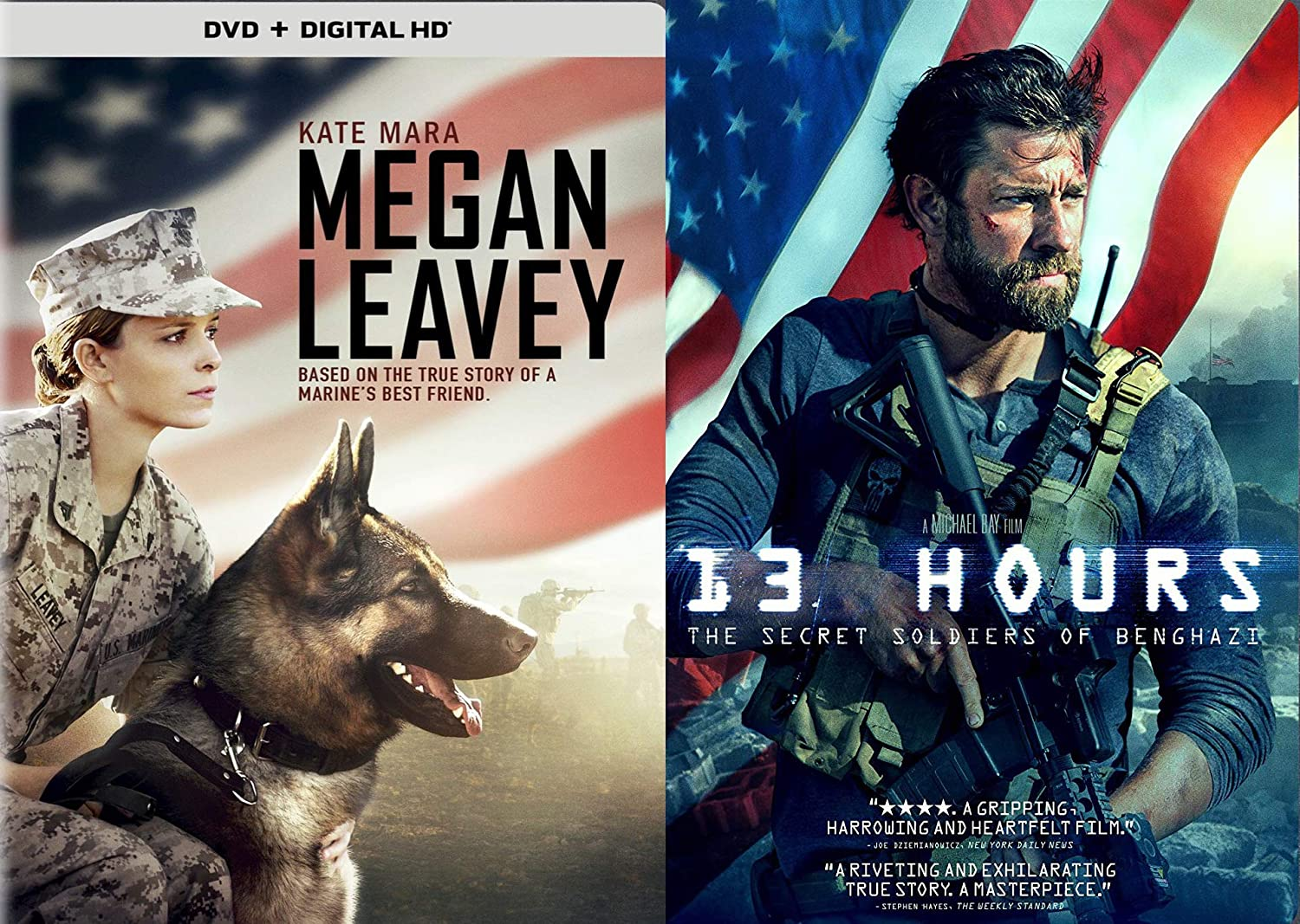 Amazon com: True Heroic Stories Of Marines: 13 Hours & Megan Leavey