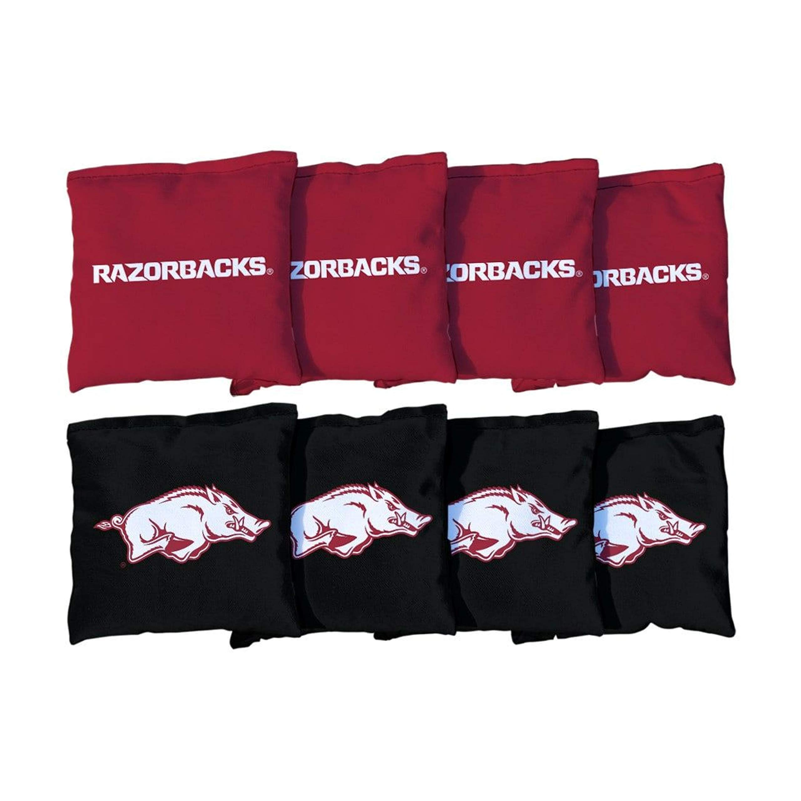 Victory Tailgate NCAA Collegiate Regulation Cornhole Game Bag Set (8 Bags Included, Corn-Filled) - Arkansas Razorbacks by Victory Tailgate