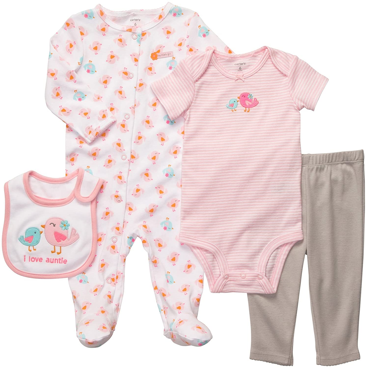 Amazon Carter s Baby Girls 4 Piece Set Infant And Toddler