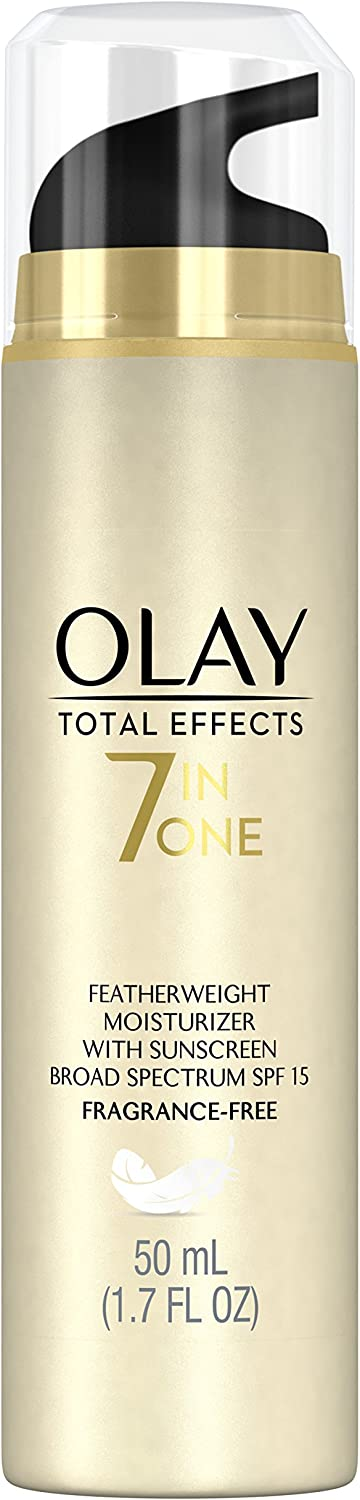 Olay Total Effects Fragrance Free Featherweight Moisturizer with SPF 15, 1.7 Fluid OuncePackaging may Vary