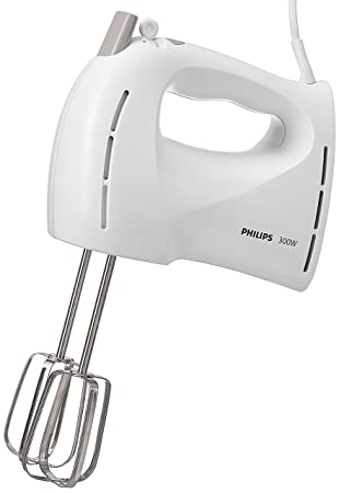 Philips HR1459/00 Batidora de varillas de 300 W con 5 velocidades, turbo blanco: Amazon.es: Hogar
