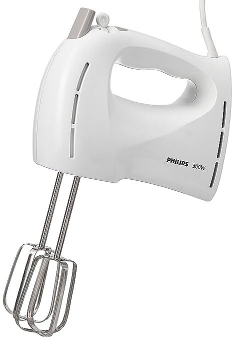 Philips HR1459/00 Batidora de Varillas de 300 W con 5 velocidades, Turbo, Blanco
