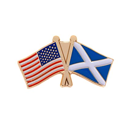 e7c09b5fa5a Amazon.com  Scotland Country Double Flag Lapel Pin Enamel with ...