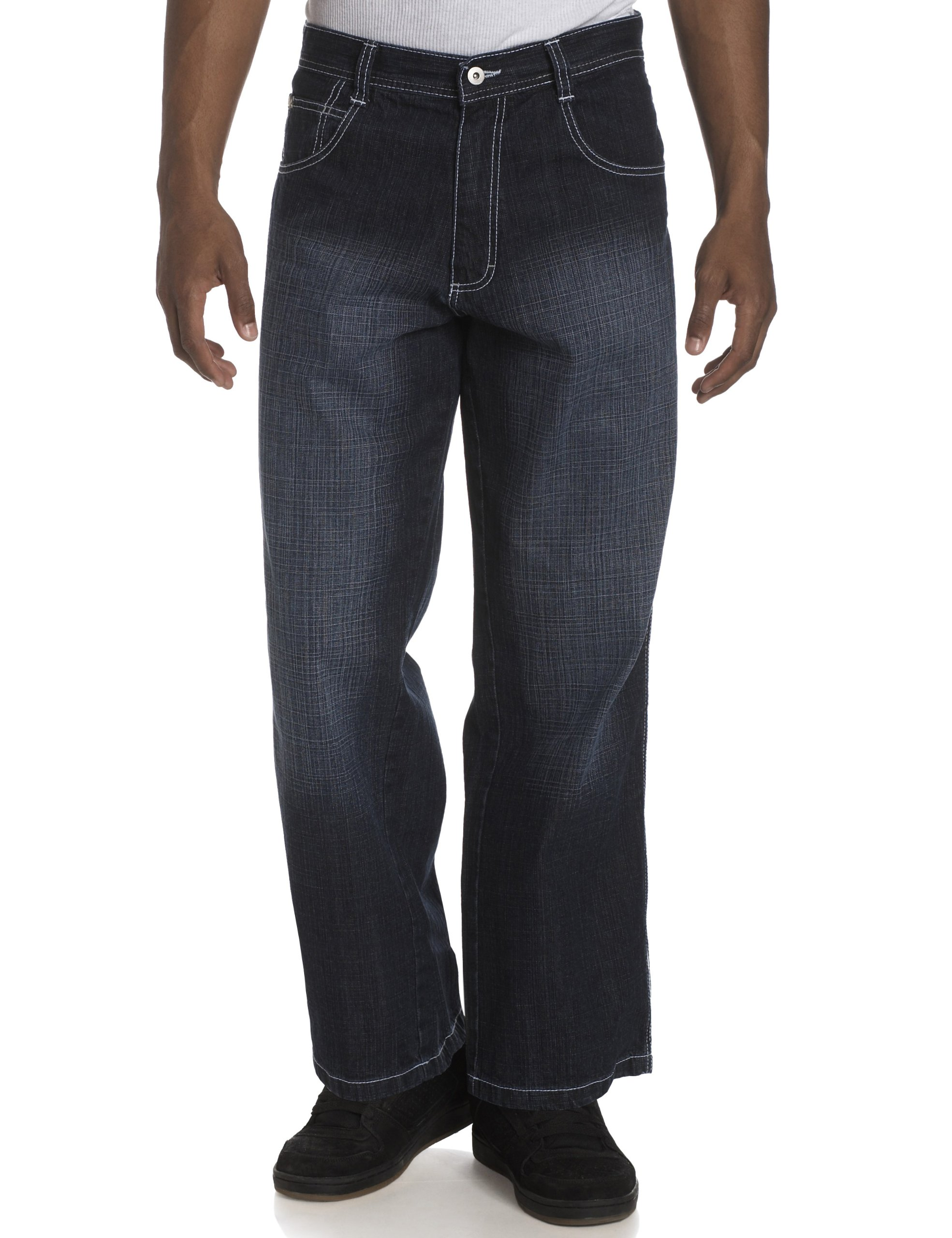 Southpole Men's Relaxed Fit Core Denim, Dark Sand Blue, 38x34