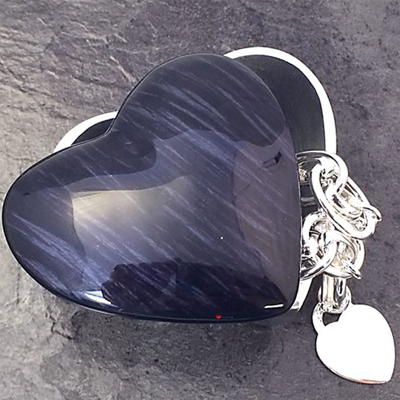 I Luv LTD Small Heart Box Shaped Box Heart In Dark Azul b3fc5c