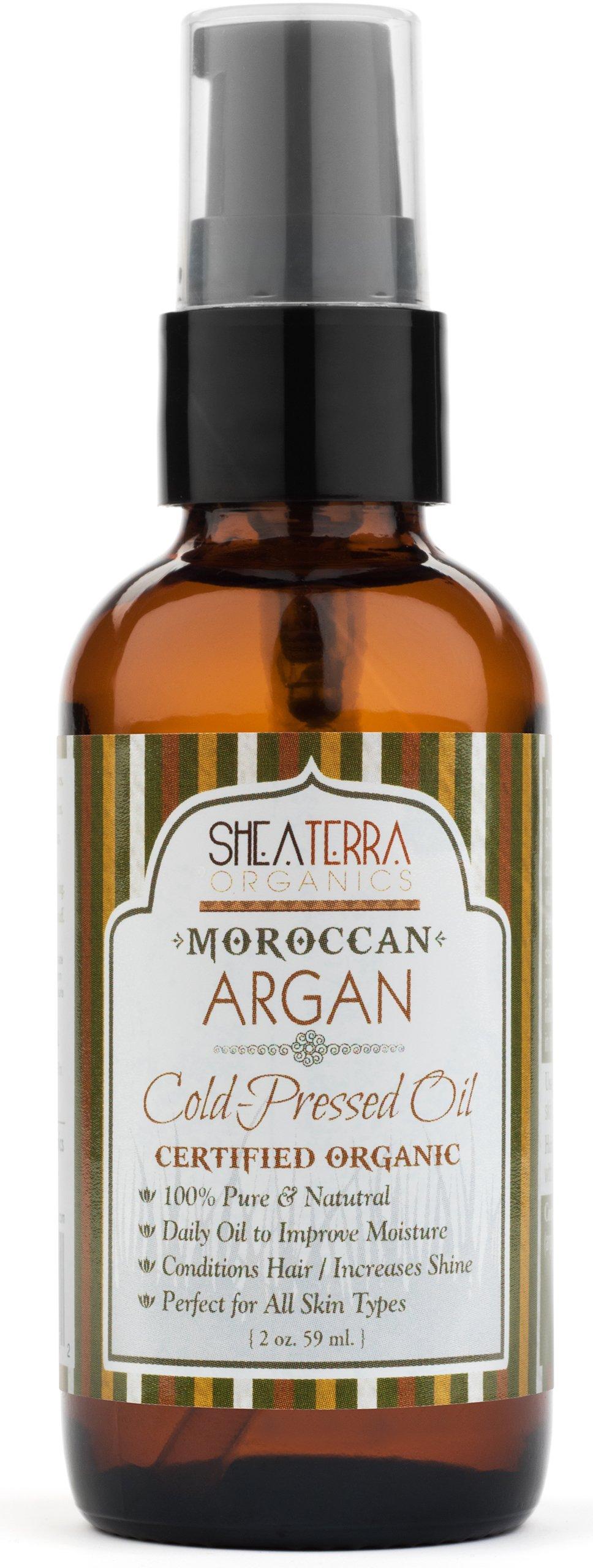 Shea Terra Organics - 100% Pure, Cold Pressed Moroccan Argan Oil, 2 oz
