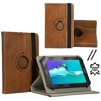 Real Leder Case Cover für Lenovo Tab3 10 Plus TB3-X70F Tablet Schutzhülle Etui mit Touch Pen & Standfunktion - Echtleder 10.1