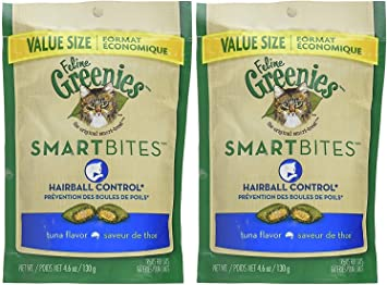 2.1 oz Greenies Feline SmartBites Hairball Control Tuna