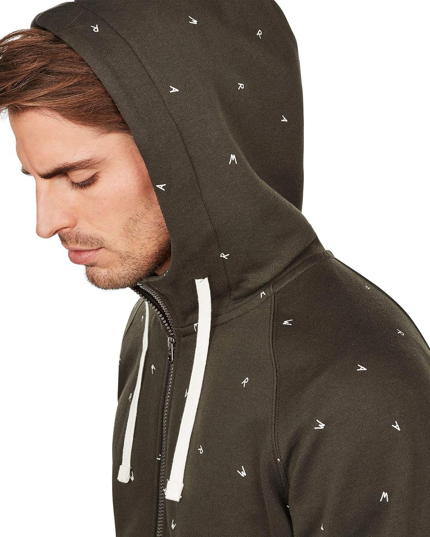 G-Star Raw Mens Full Zip Manes Raglan Hoodie Sweatshirt