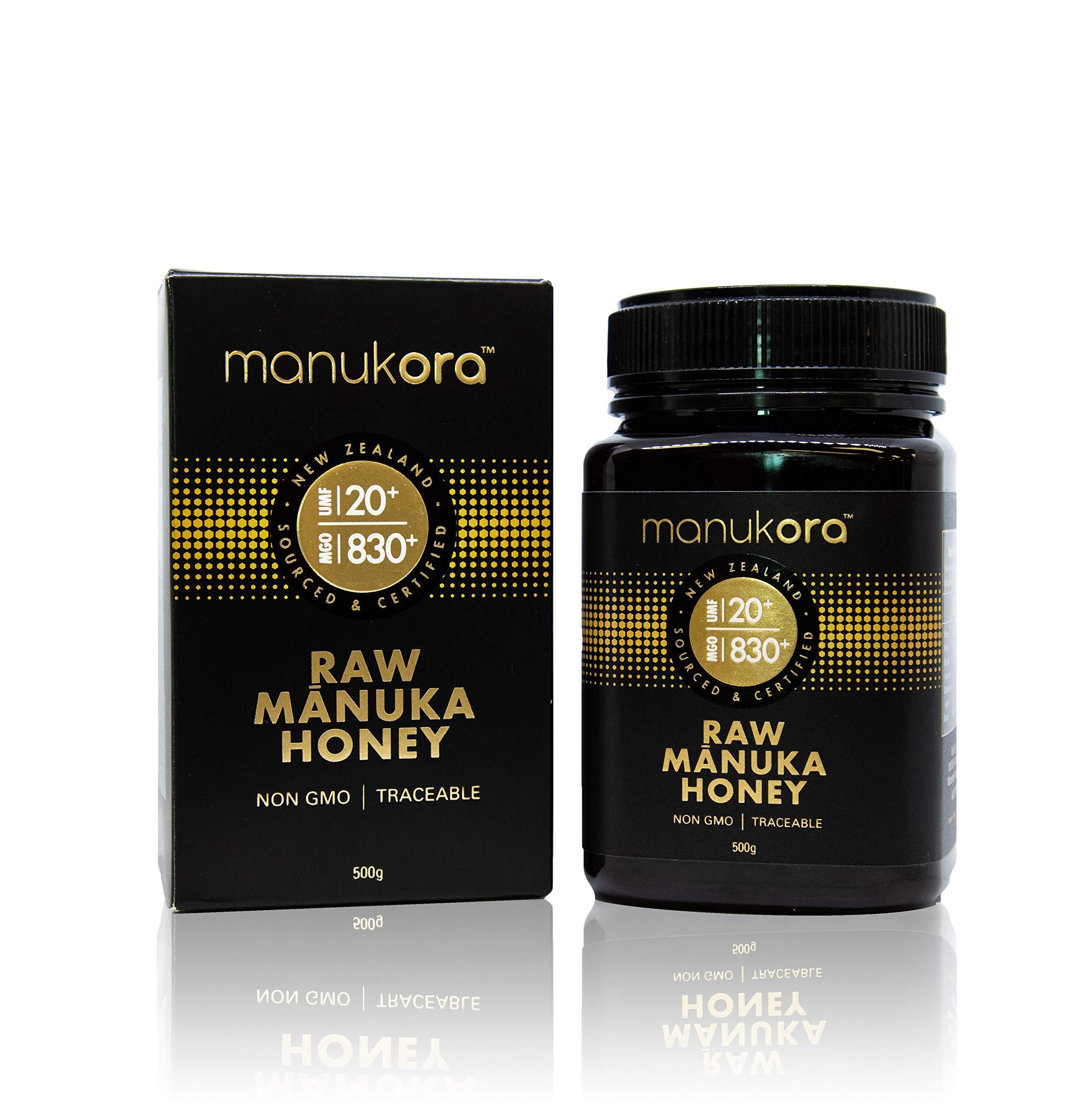 Manukora UMF 20+/MGO 830+ Raw Mānuka Honey (500g/1.1lb) Authentic Non-GMO New Zealand Honey, UMF & MGO Certified, Traceable from Hive to Hand by Manukora (Image #2)