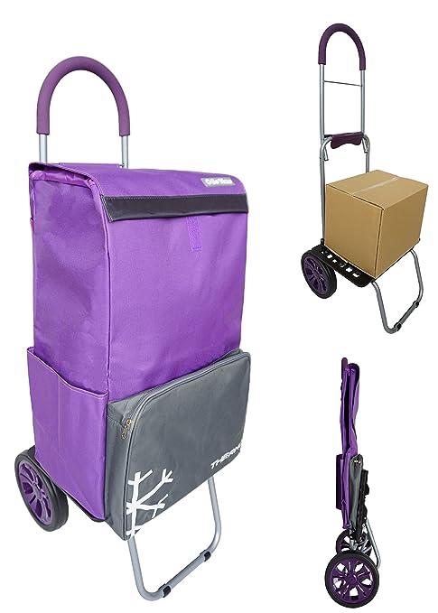 Carrito de la compra 2 ruedas BO TIME - Con un bolsillo más fresco - Capacidad