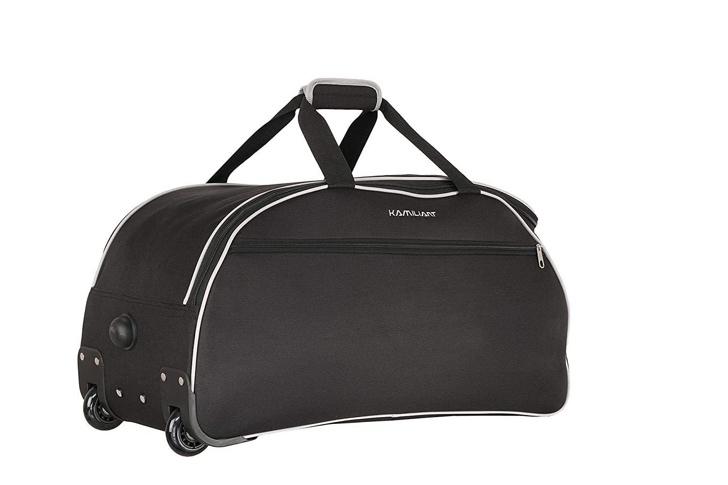 Kamiliant by American Tourister Alps Wheel Duffle Polyester 62 cms Black Travel Duffle (KAM ALPS WHD 62cm - Black)