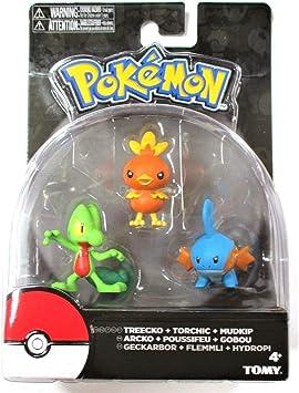Treecko, Torchic y Mudkip Pokemon Legacy Figura de acción 3 Pack ...