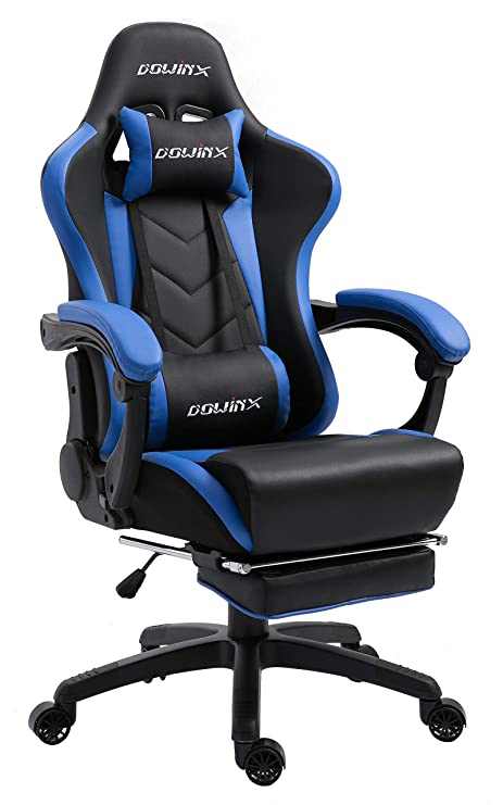 Cool Dowinx Gaming Chair Ergonomic Racing Style Recliner With Massage Lumbar Support Office Armchair For Computer Pu Leather E Sports Gamer Chairs With Dailytribune Chair Design For Home Dailytribuneorg