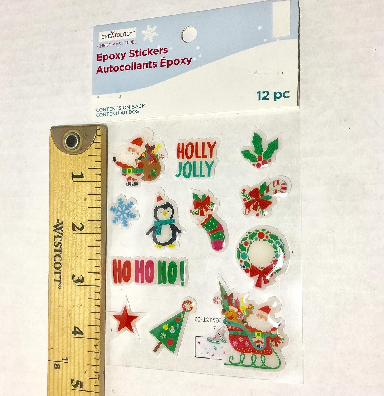 Creatology Puffy and Epoxy Stickers Christmas Theme Bundle of 3