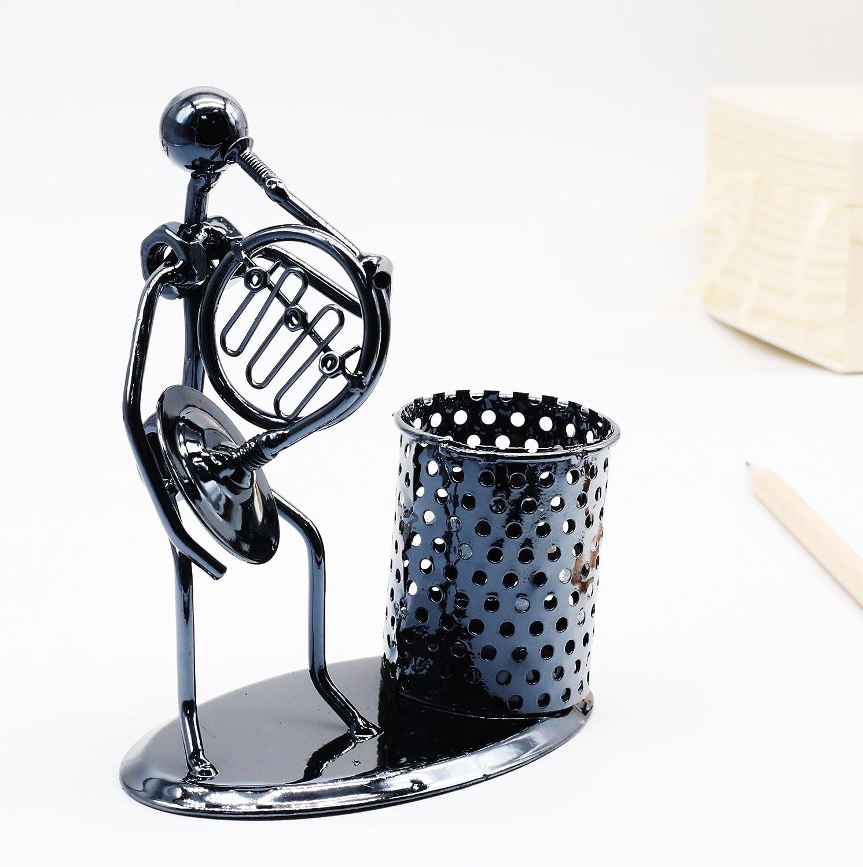 Accessoires de bureau de bureau cr/éatif porte-stylo en acier inoxydable musical pour cadeaux festival accord/éon