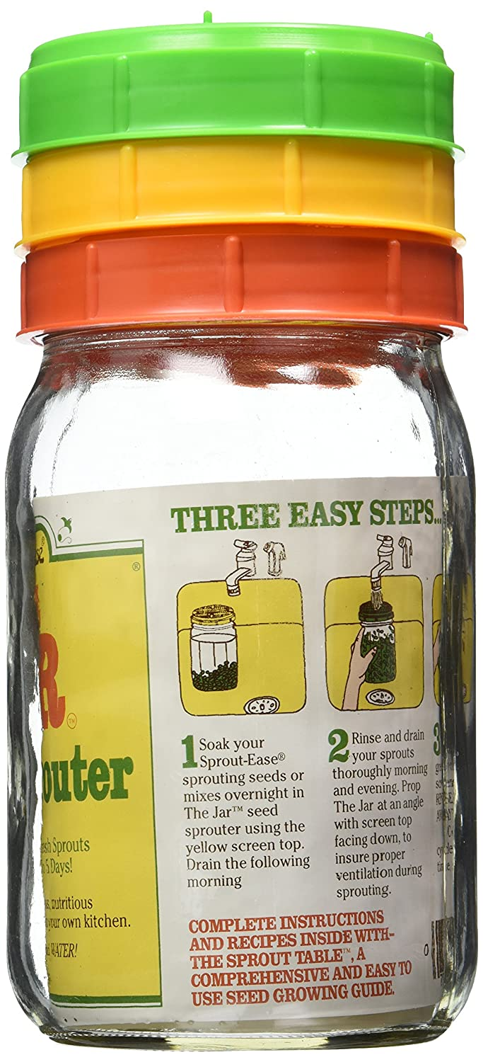 Kitchen Garden Sprouter Amazoncom The Jar Seed Sprouter 1 Qt Growin Cap Kitchen Dining