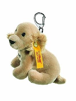 Steiff 112096 - Llavero de labrador de peluche, color amarillo